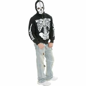 Brand New Skeleton Zippered Hoodie by Charades - Size XL