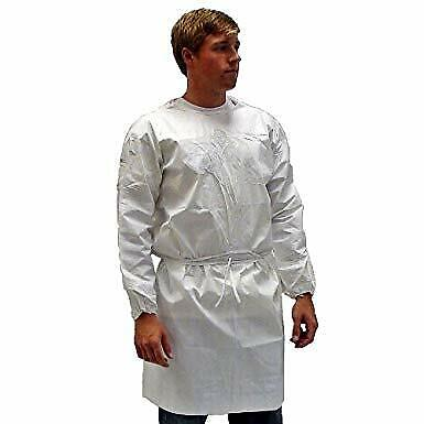 Kappler ProVent 7000 Non Sterile Wrap Around Gown, XL, White(Pack of 1)