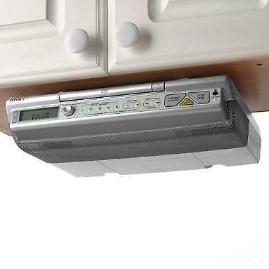 Sony under cabinet radio ebay - Sony icfcdk50 under cabinet kitchen cd clock radio ...