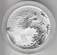 Pièce de 1/2 once en argent fin - Année du dragon 2012