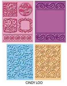 Cuttlebug 4-pk CINDY LOO embossing folders - $25