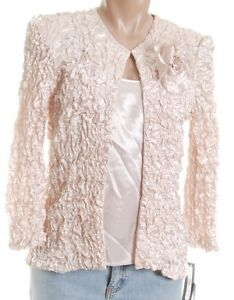 NEW - Cream Crinkle Sequined Jacket & Top Set.