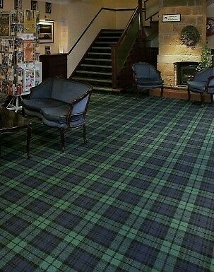 Brand New Tartan Carpet Green Blue Tartan In Aberdeen