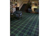 Brand new tartan carpet ( green/blue tartan)