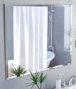 Frameless Wall Mirror with Hooks: Great Deal!