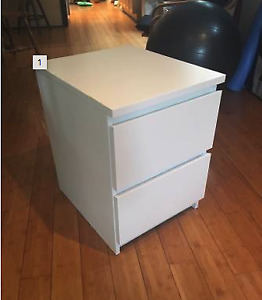 IKEA MALM Drawer Chest Dresser Night Stand White