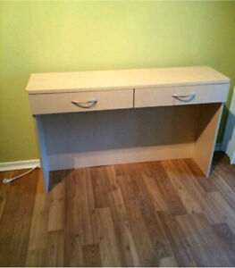 Desk or entryway console or cosmetic table