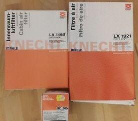 Mazda3 service kit 2004-2009 - Genuine MAHLE KNECHT filters - LX1921, LA346/S