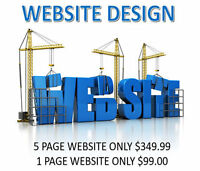 Complete website design services - From $99.00 inclusive...