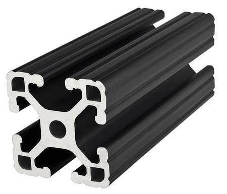80/20 1515-Lite-Black-145 Framing Extrusion,T-Slotted,15 Series