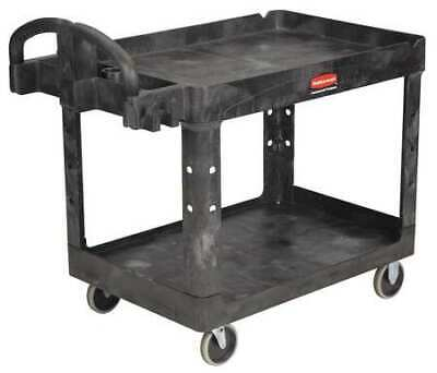 Rubbermaid Fg452088bla Structural Foam Utility Cart With Deep Lipped Plastic