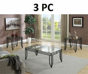 Brand New 3-Piece Coffee Table Set NEW Unassembled