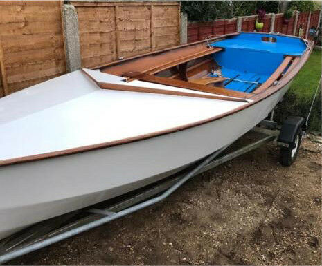 Leader 14ft Wooden Sailing Dinghy Boat With Cover Tow Trailer And Launch Trailer In Bournemouth Dorset Gumtree