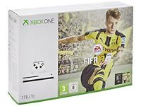 **SEALED** XBOX ONE S 1TB & FIFA 17 GAME BUNDLE BRAND NEW 1 TERABYTE AND INCLUDES ONE YEAR WARRANTY
