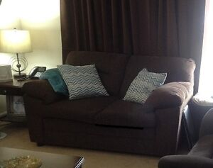 ALMOST NEW SOFA AND LOVE SEAT BROWN
