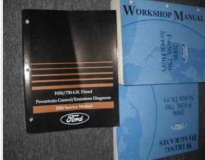 2006 Ford F-650 F-750 Super Duty TRUCK Service Shop Repair Manual SET W PCED EWD for sale  Shipping to Canada