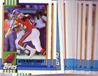 Topps Denver Broncos Football Trading Cards Set