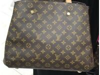 Genuine Leather louis vuitton handbag wow LV