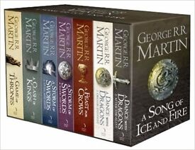 GAME OF THRONES BOOK BOX SET - 7 VOLUMES NEW & SEALED