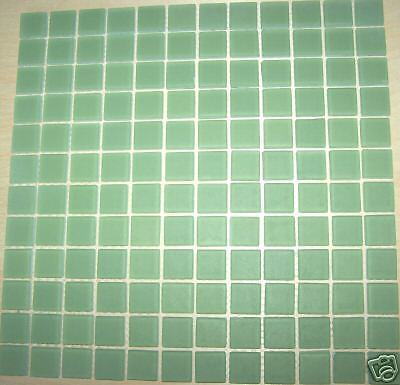 Frosted Glass Tile Mosaic Kitchen Bathroom Wall: Green