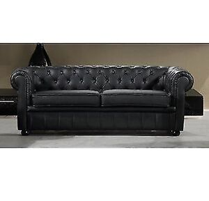 Russell Leather Chesterfield Sofa 100% leather , new