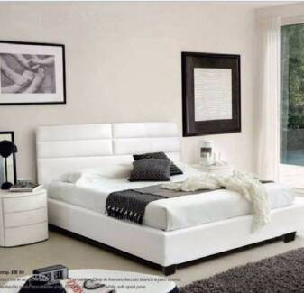 【Special Offer】LEATHER-LOOK Bed Frame Queen Size