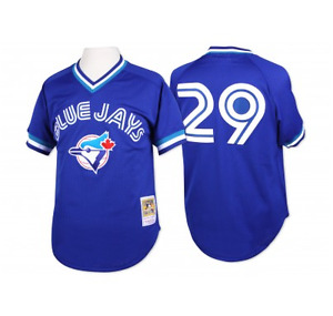 Blue Jays Throwback Mesh BP Jersey Joe Carter