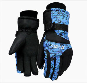 WonSystem Waterproof Winter Snow Ski Glove with Ridges