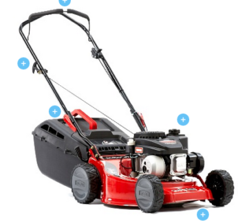 """LAWNMOWER 18"""" 140cc ROVER DURACUT 410 STEEL CHASSIS"""