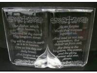 "Waterford crystal. ""The lords prayer"""
