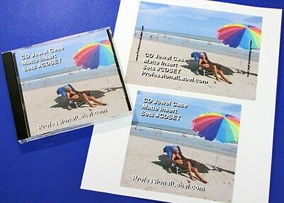 Cd Jewel Case Matte Printable Inserts Front And Traycard Sets 50 Sheets Cdset