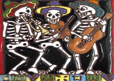 Mariachi Day of the Dead 9 x 12 inch image on Needlepoint Canvas ready to