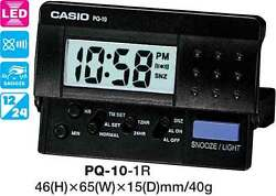 CASIO CLOCK PQ-10-1R PQ10 ALARM LED LIGHT 12 MONTH WARRANTY