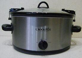 Portable Large Crock-Pot Slow Cooker with clamp-on lid - caravan, motorhome, travel, camping, camper