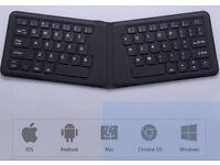Foldable Wireless Bluetooth Ultraslim Keyboard Rechargeable