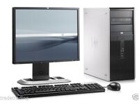 "FULL HP DUAL CORE DESKTOP PC & 17"" TFT COMPUTER WITH WINDOWS 7 & WIFI & 4GB"