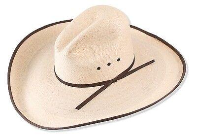 Big 5  Brim   Western Cowboy Hat  Mexican Palm Leaf Straw  Gus Bound Edge  Wide