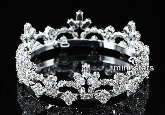 6 pcs X Wholesale Lot Newborn Baby Mini Crown Round Full Circle Hair Tiara
