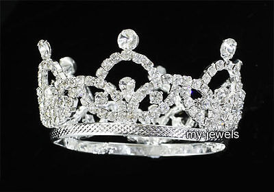 ni Tiara Krone Foto Prop Kristall Vollkreis rund T1825 (Mini-tiara)