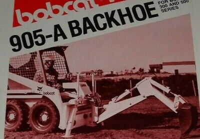 Bobcat 300 500 Series Skid Steer Loader 905-a Backhoe Spec Sheet Sales Brochure