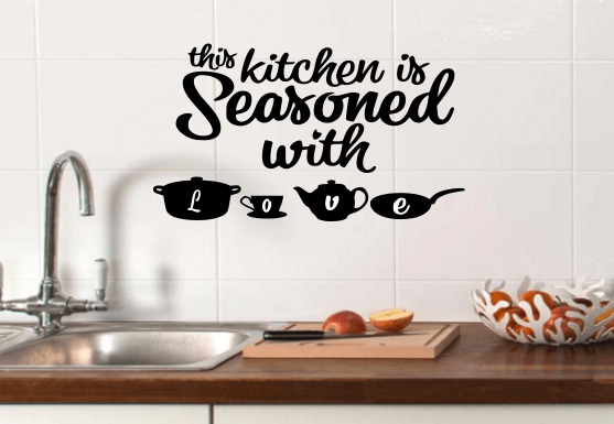 Home Decoration - kitchen wall art sticker decal stickers love vinyl diy home decor tea