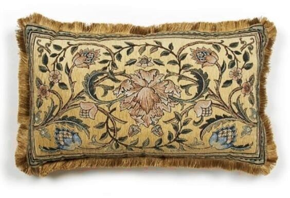 William Morris Tree Of Life Floral Chenille Tapestry Throw Pillow 26x17