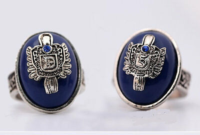 Vampire Diaries Salvatore Damon Stefan Protection Sun Family Crest Art Ring