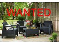 W anted rattan furniture set