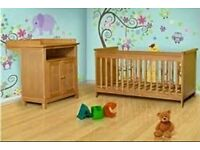 Nursery furniture set Cot and Changing Station