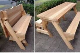 Interchangeable Garden Picnic Bench