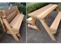 Interchangeable Garden Picnic Bench