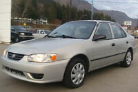 One Owner 2001 Toyota Corolla Sedan - Great Condition!