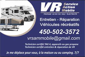 Réparation Mobile de Véhicules Récréatifs, Roulottes, Fifthwheel