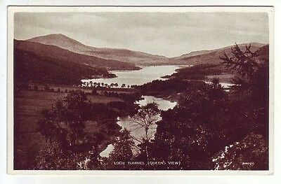 Loch Tummel Queens View Perthshire Photo Taken 1888 Card Published 1932